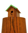 Nest box birdhouse on white Stock Photos