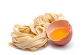 Nest egg italian pasta photographic medium nests with several Royalty Free Stock Photos