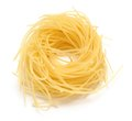 Nest pasta bunch on white background Stock Photo