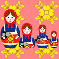 Nesting doll Stock Image