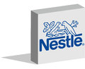 Nestle logotype in 3d form on ground Royalty Free Stock Photo