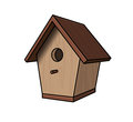 Nestling box vector illustration of a Royalty Free Stock Photos