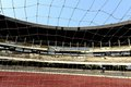 Net of the goal post from view in saltlake stadium in kolkata india Stock Photography