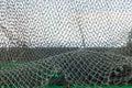 Net,grass,sky background. Royalty Free Stock Photo