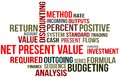 NET PRESENT VALUE Royalty Free Stock Photos
