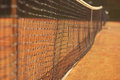 Net for tennis blurred background Royalty Free Stock Photo