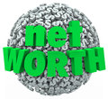 Net Worth Money Ball Sphere Total Financial Value Wealth Royalty Free Stock Photo
