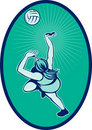 Netball player rebounding Stock Photography