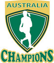 Netball Shield  Australia Champions Royalty Free Stock Photography