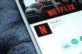 Netflix app Royalty Free Stock Photo