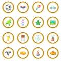 Netherland travel icons circle