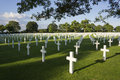 Netherlands American Cemetery Royalty Free Stock Photo