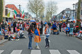 The netherlands april festivity three young girls posing on during birthday of dutch queen or king in Royalty Free Stock Photography