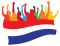 Netherlands fans illustration Royalty Free Stock Photography
