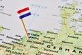 Netherlands Flag On Map