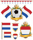 Netherlands flags Stock Photo