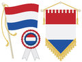 Netherlands flags Royalty Free Stock Image