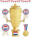 Netherlands football trophy Stock Photos