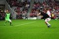 Netherlands Klaas Jan Huntelaar shootss a goal a Royalty Free Stock Image