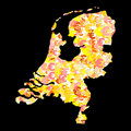 Netherlands map with euros Stock Photo