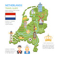 Netherlands Map Flat Infographics Royalty Free Stock Photo