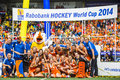 Netherlands women become world champions hockey the hague june team photo of the victorious dutch team coaches and support staff Stock Photography