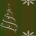 Netted background with christmas tree checkered for card Stock Images