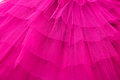 Netting layers of in bright pink from ballet tutu Stock Images