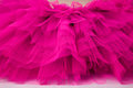Netting layers of in bright pink from ballet tutu Stock Photo