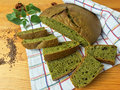 Nettles green round bread, weed dough Royalty Free Stock Photo