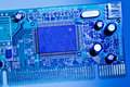 Network adapter board close-up Royalty Free Stock Photo