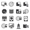 Network and big data icons Royalty Free Stock Photo
