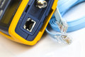 Network cable tester for rj connectors and coaxial Royalty Free Stock Image