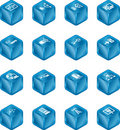 Network Computing Cube Icons S Royalty Free Stock Photos