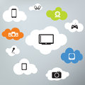 Network connected objects through the cloud Royalty Free Stock Photography