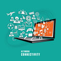 Network connectivity concept vector the absract of Royalty Free Stock Photo
