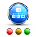 Network Cristal Glossy Button Royalty Free Stock Photo
