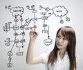 Network diagram Stock Photos