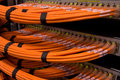 Network Hub and Fibre Cables Royalty Free Stock Photo
