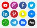 Network Icons Social Media Color New Vectors