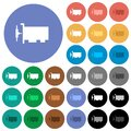 Network interface card round flat multi colored icons Royalty Free Stock Photo