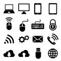 Network and mobile devices icons Royalty Free Stock Photo