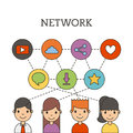 Network people scenary Royalty Free Stock Photo