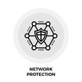 Network Protection Line Icon