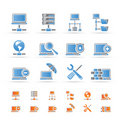 Network, Server and Hosting icons Royalty Free Stock Images