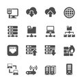 Network and server icon set, vector eps10 Royalty Free Stock Photo