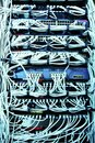 IT Network server patch cables Royalty Free Stock Photo
