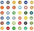 Network Social media business company logo icons