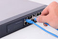 Network switch Stock Image