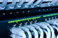 Network switch and cables Royalty Free Stock Photo